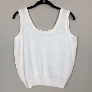 St. John Separates   Cream Knit Tank Top